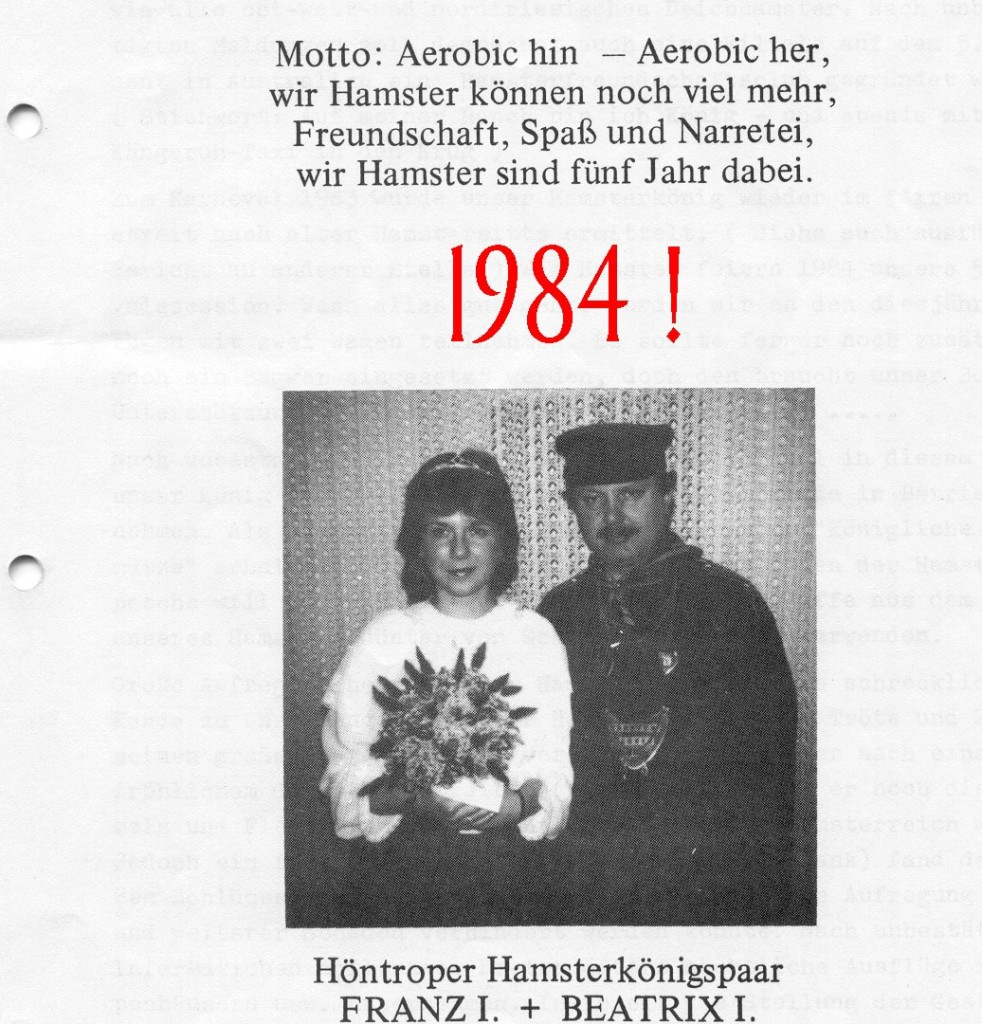 1984 Königspaar