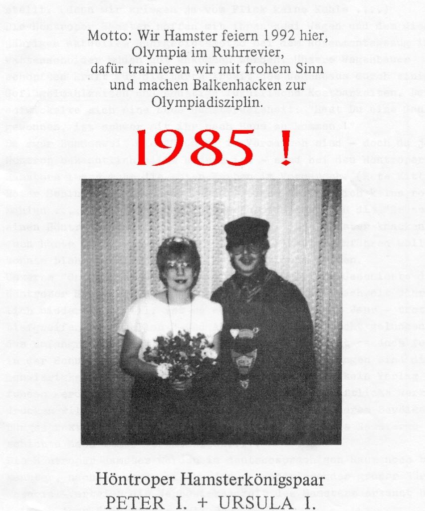 1985 Königspaar