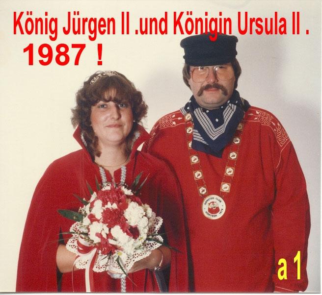 1987 König Jürgen II. und Königin Ursula II.
