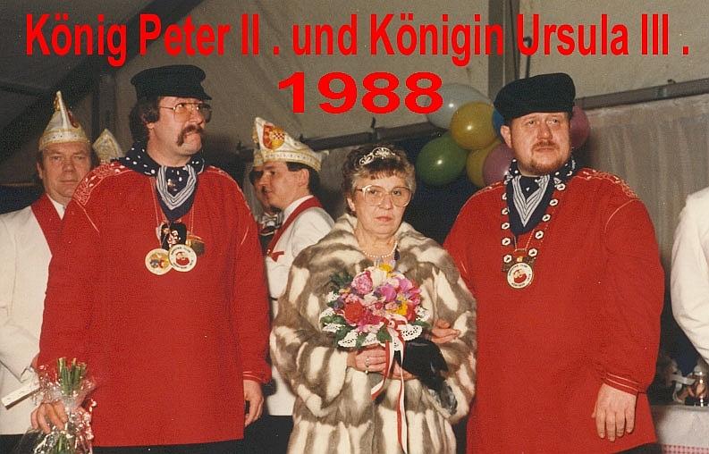 1988 - König Peter II. und Königin Ursula III.