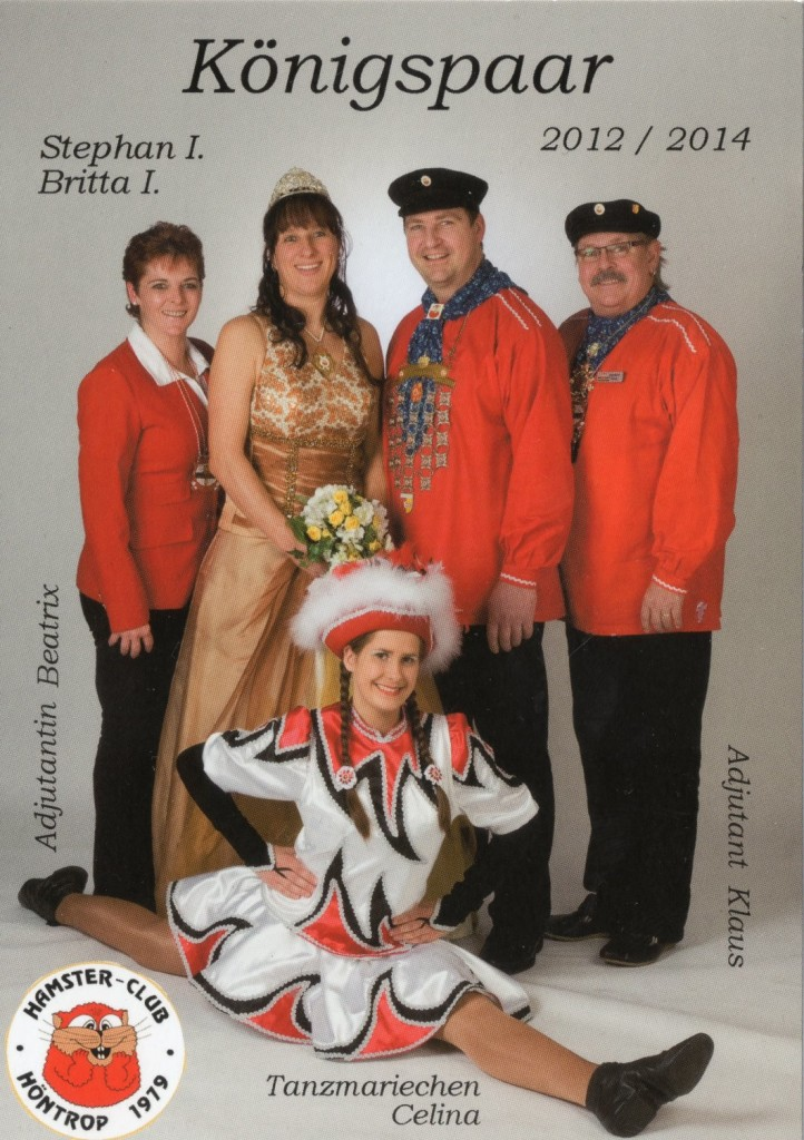 2012-14 König Stephan I. und Königin Britta I. Karte