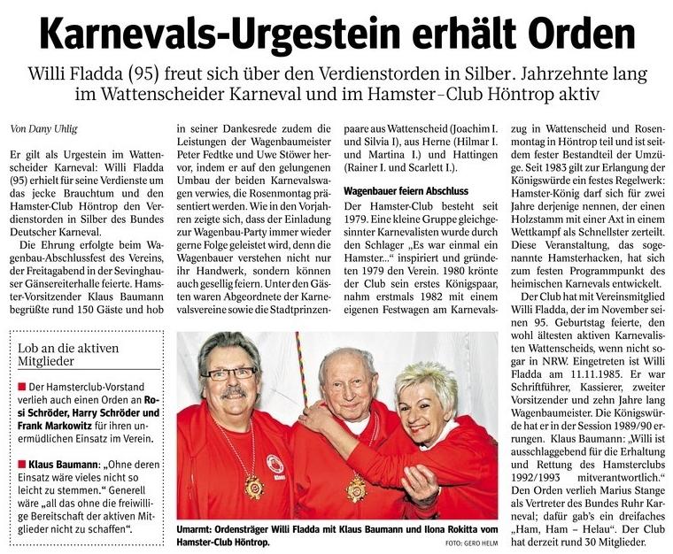 Willi Fladder Orden 17